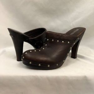 Michael Kors leather studded clogs